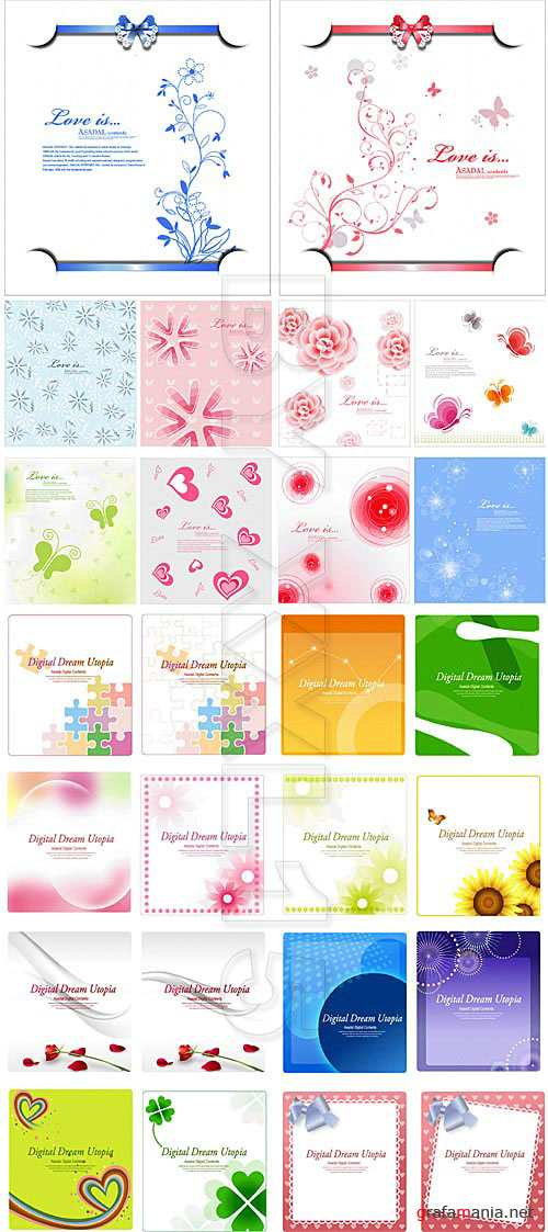 Different greeting cards