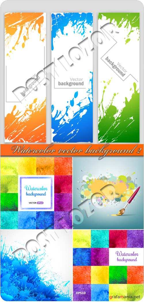 Акварель фоны 2 | Watercolor vector background 2