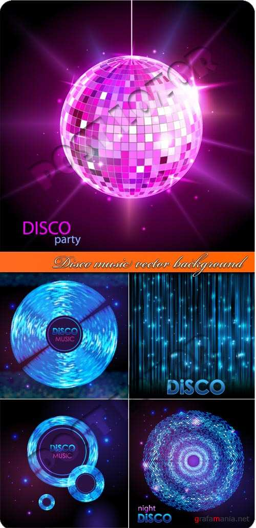 Диско музыка фоны | Disco music vector background