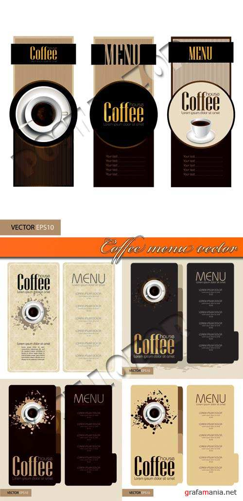 Кофе меню | Coffee menu vector