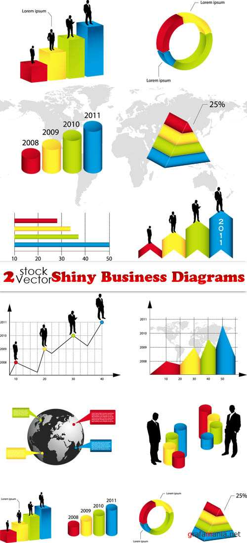Vectors - Shiny Business Diagrams