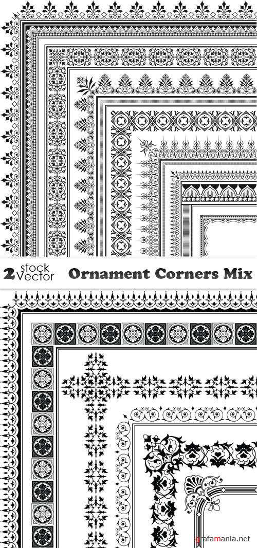 Vectors - Ornament Corners Mix