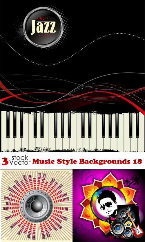 Vectors - Music Style Backgrounds 18