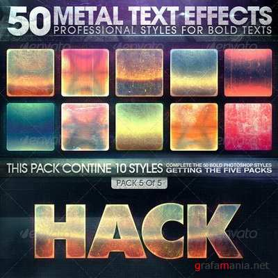 GraphicRiver - 50 Metal Text Effects 5 of 5 - 7358082
