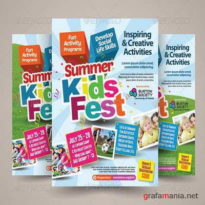 GraphicRiver - Kids Summer Camp Flyers - 7685292