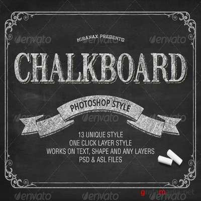 GraphicRiver - Chalkboard Photoshop PSD Layer Styles