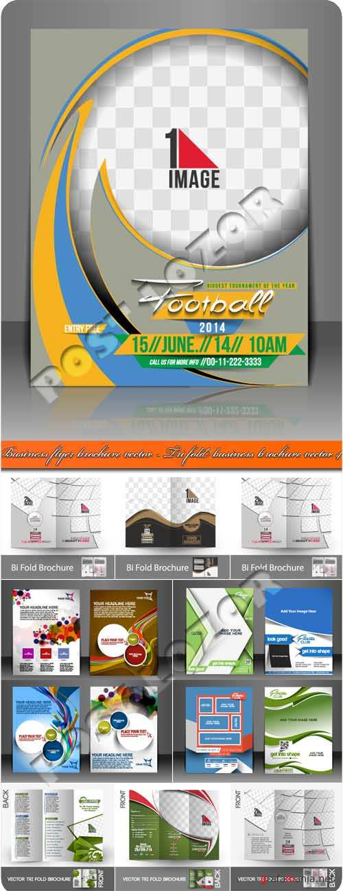 Бизнес флаер брошюра 4 | usiness flyer brochure vector - Tri fold business brochure vector 4