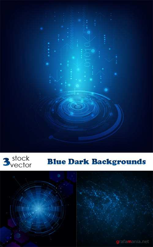 Vectors - Blue Dark Backgrounds