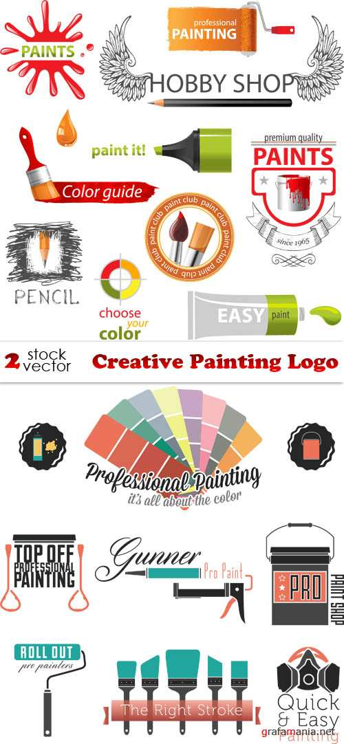 Vectors - Creative Painting Logo