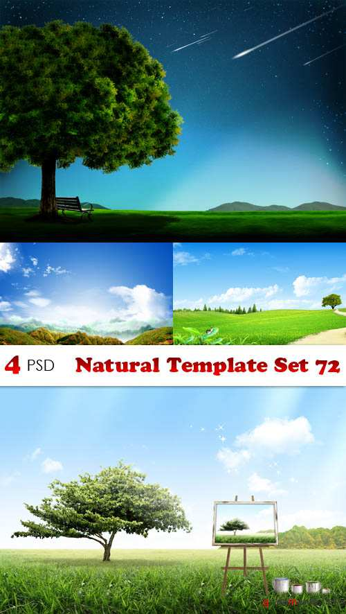 PSD - Natural Template Set 72