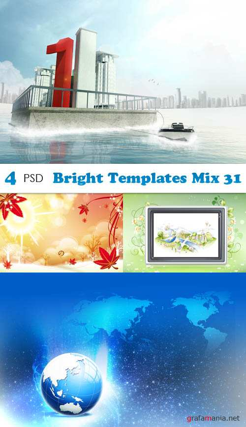 PSD - Bright Templates Mix 31