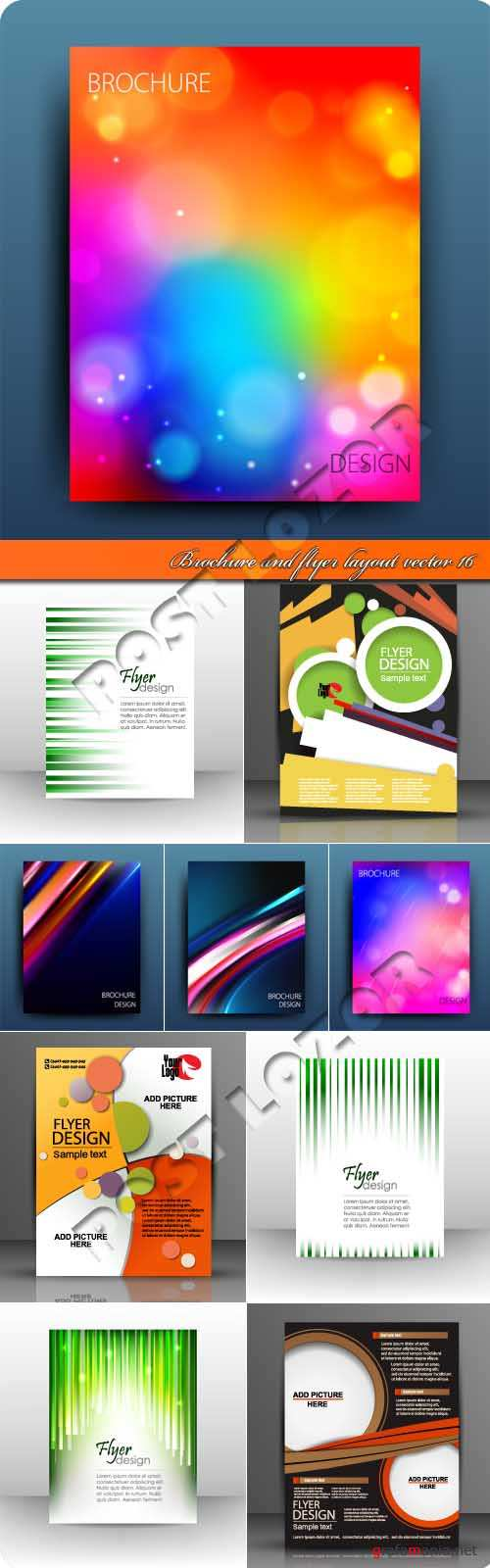 Брошюра и флаер 16 | Brochure and flyer layout vector 16