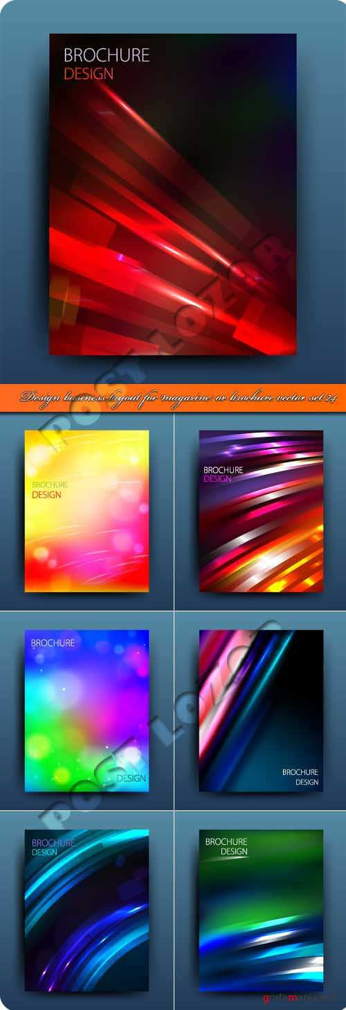 Design business layout for magazine or brochure vector set 24