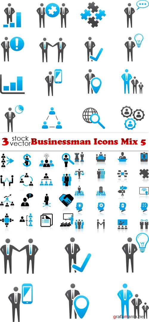 Vectors - Businessman Icons Mix 5