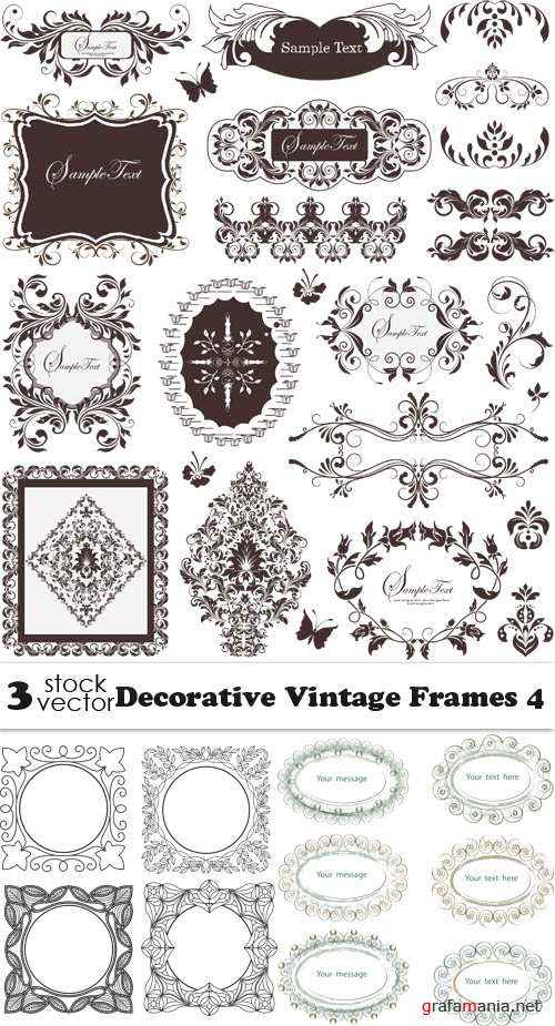 Vectors - Decorative Vintage Frames 4