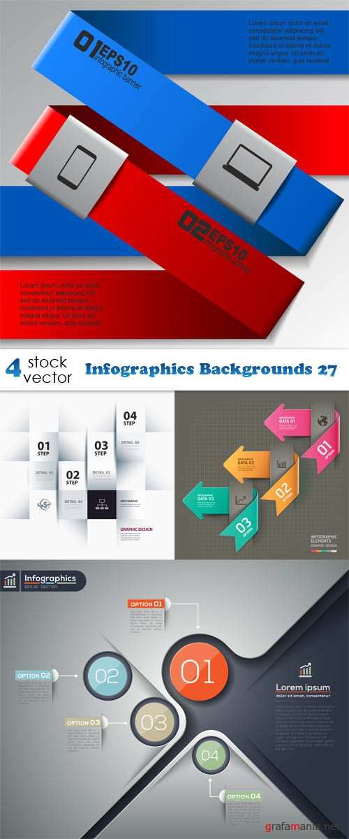 Vectors - Infographics Backgrounds 27