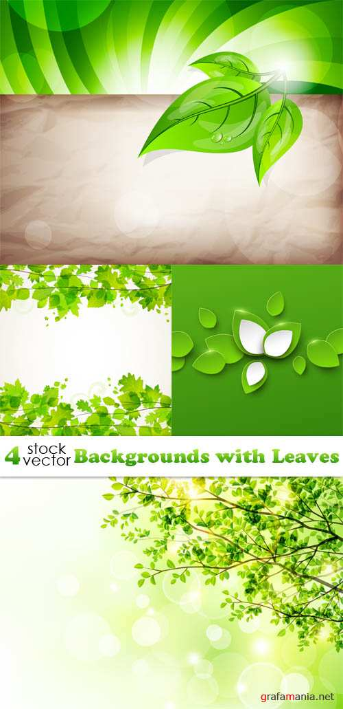 Vectors - Backgrounds with Leaves