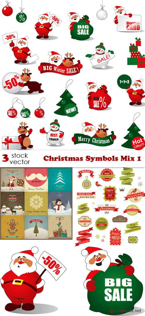 Vectors - Christmas Symbols Mix 1