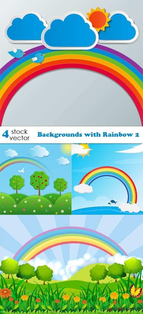 Vectors - Backgrounds with Rainbow 2