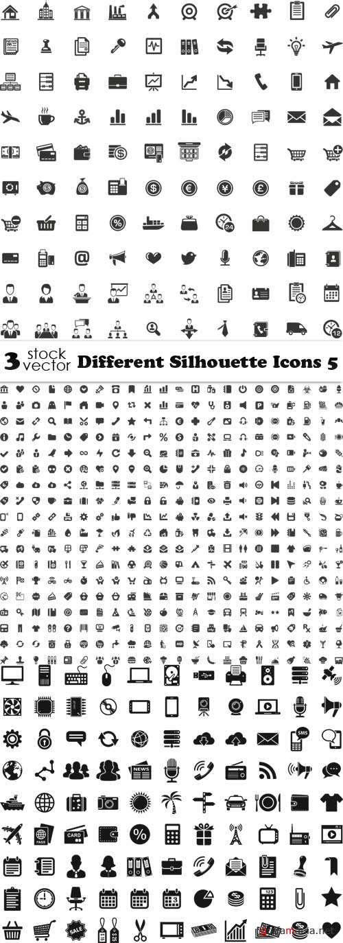 Vectors - Different Silhouette Icons 5
