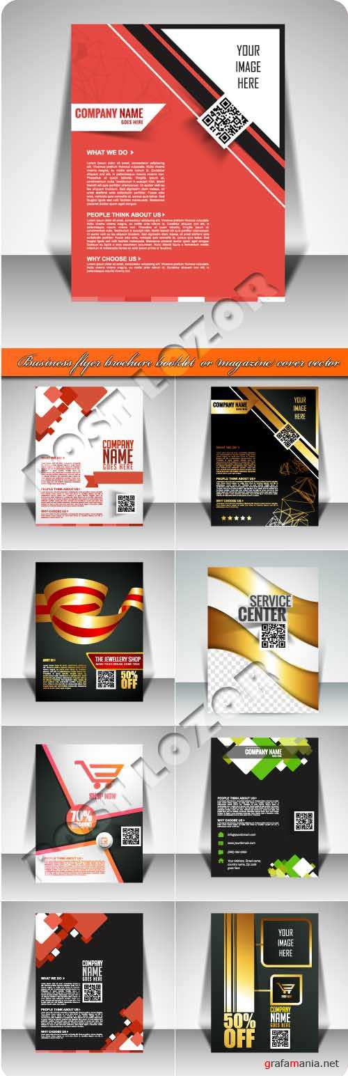 Бизнес флаер брошюра боложка журнала и буклет | Business flyer brochure booklet  or magazine cover vector