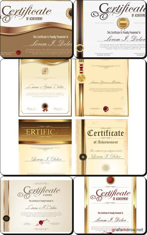 Certificate template collection - Vector