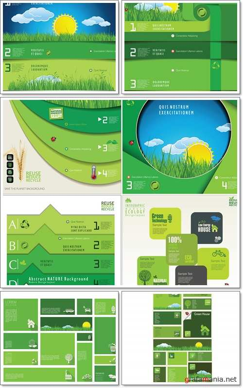 Ecology modern, infographic Design Layout - Vectors