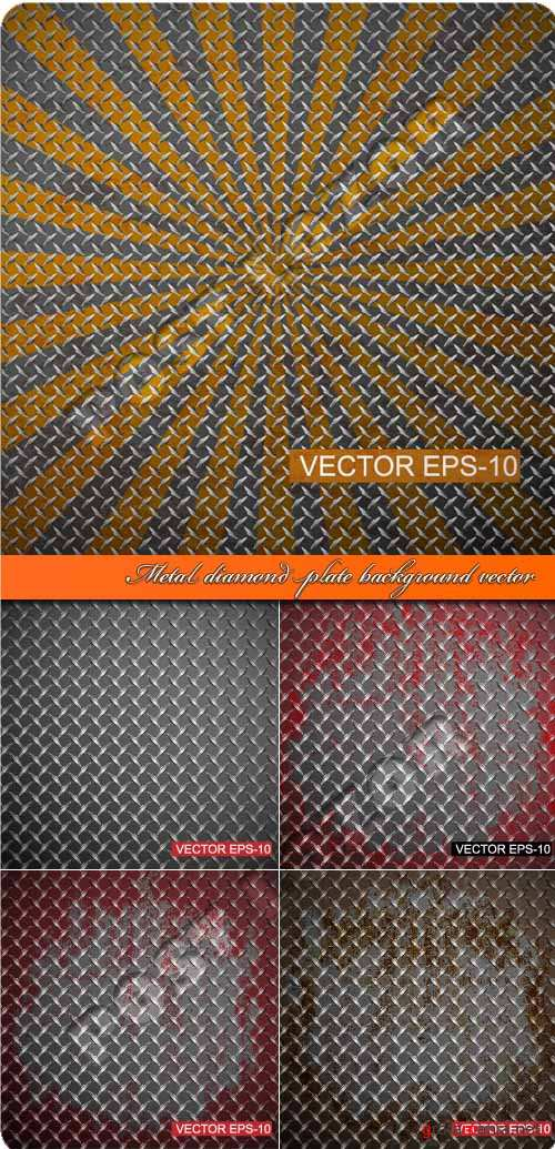 Metal diamond plate background vector