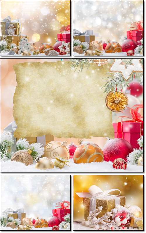 Abstract Christmas background, gifts - Stock photo