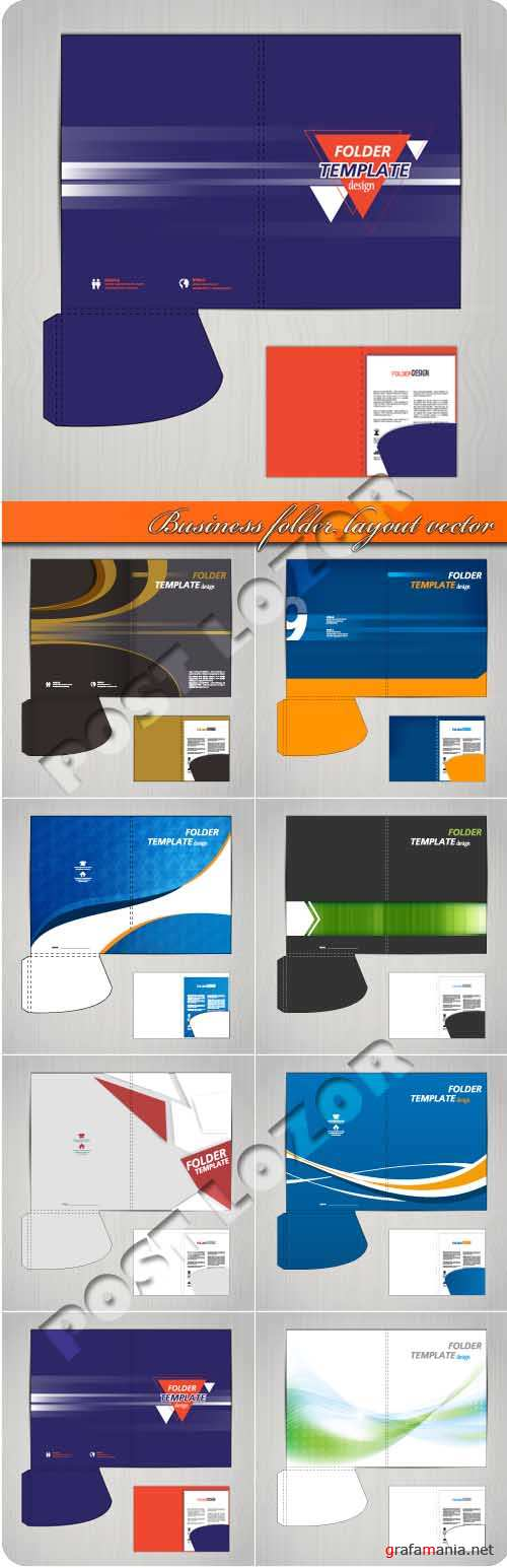 Business folder layout vector