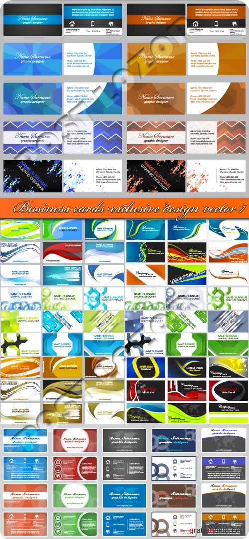 Business cards exclusive design vector 7