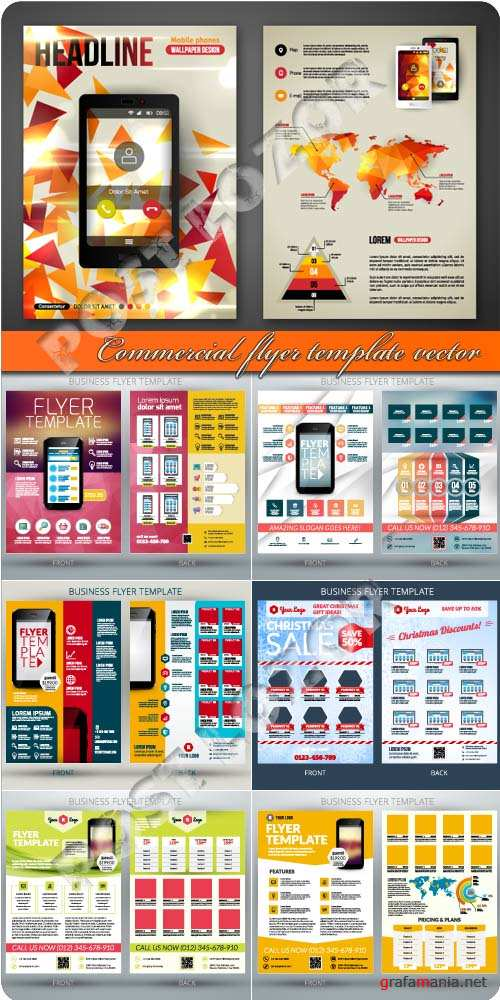 Commercial flyer template vector