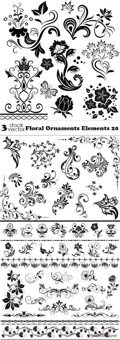 Vectors - Floral Ornaments Elements 20