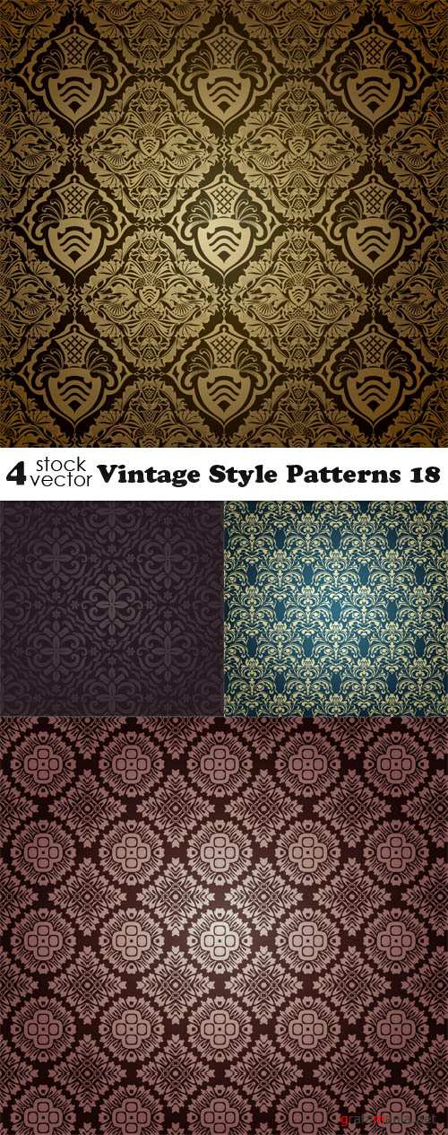 Vectors - Vintage Style Patterns 18
