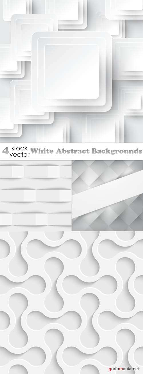 Vectors - White Abstract Backgrounds