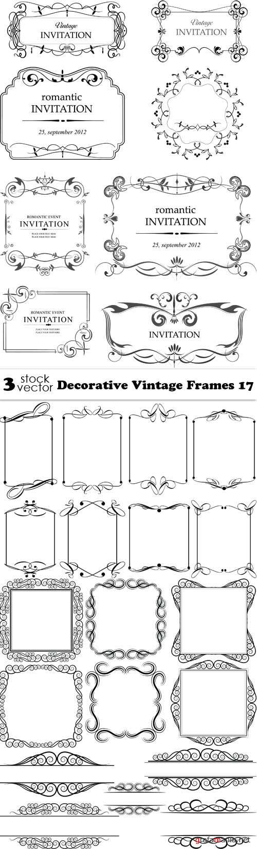 Vectors - Decorative Vintage Frames 17