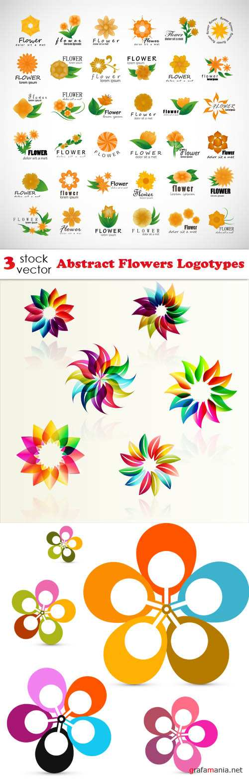 Vectors - Abstract Flowers Logotypes