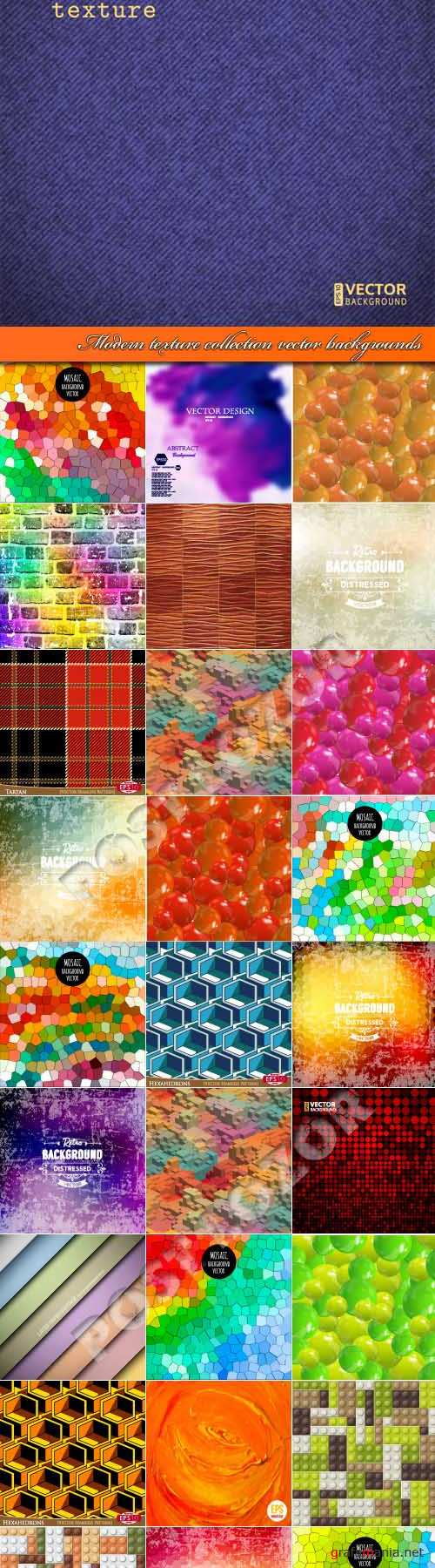 Современные текстуры | Modern texture collection vector backgrounds