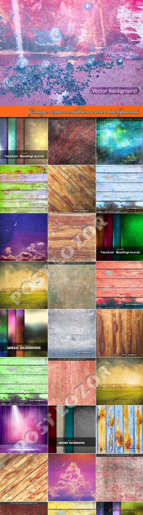 Гранж текстуры | Grunge texture collection vector backgrounds