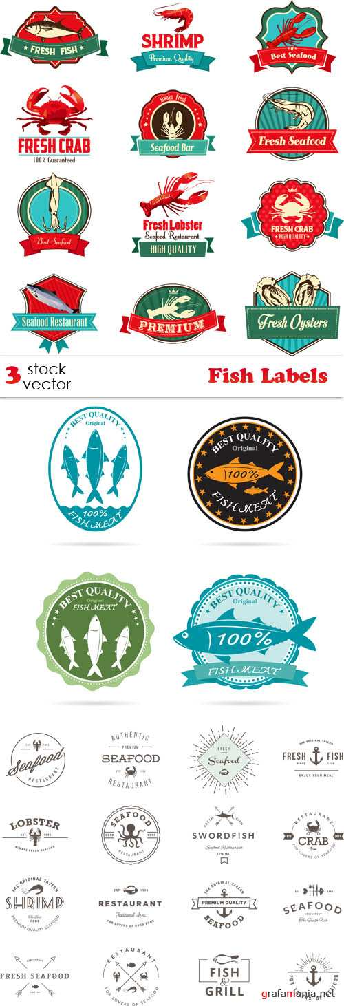 Vectors - Fish Labels