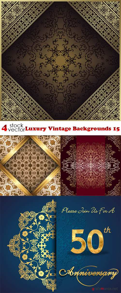 Vectors - Luxury Vintage Backgrounds 15