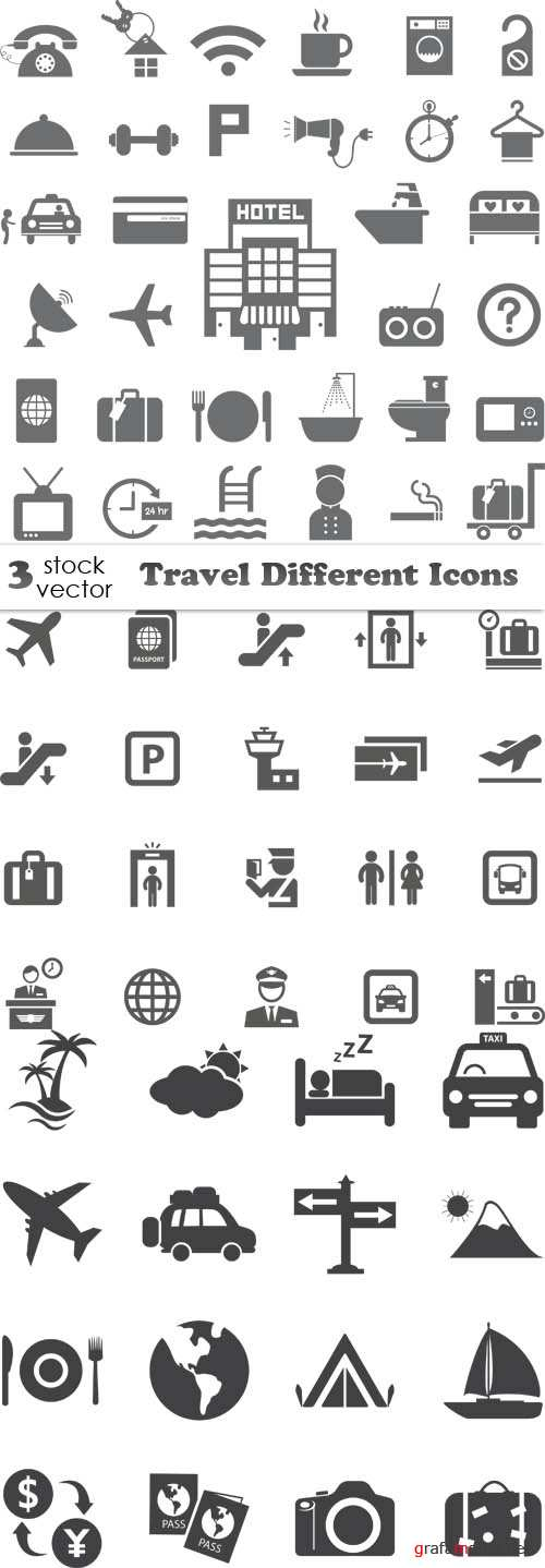 Vectors - Travel Different Icons