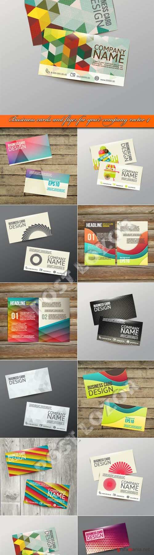 Business cards and flyer for your company vector 4
