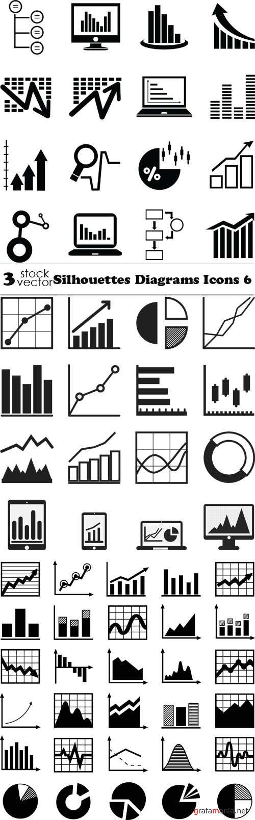 Vectors - Silhouettes Diagrams Icons 6