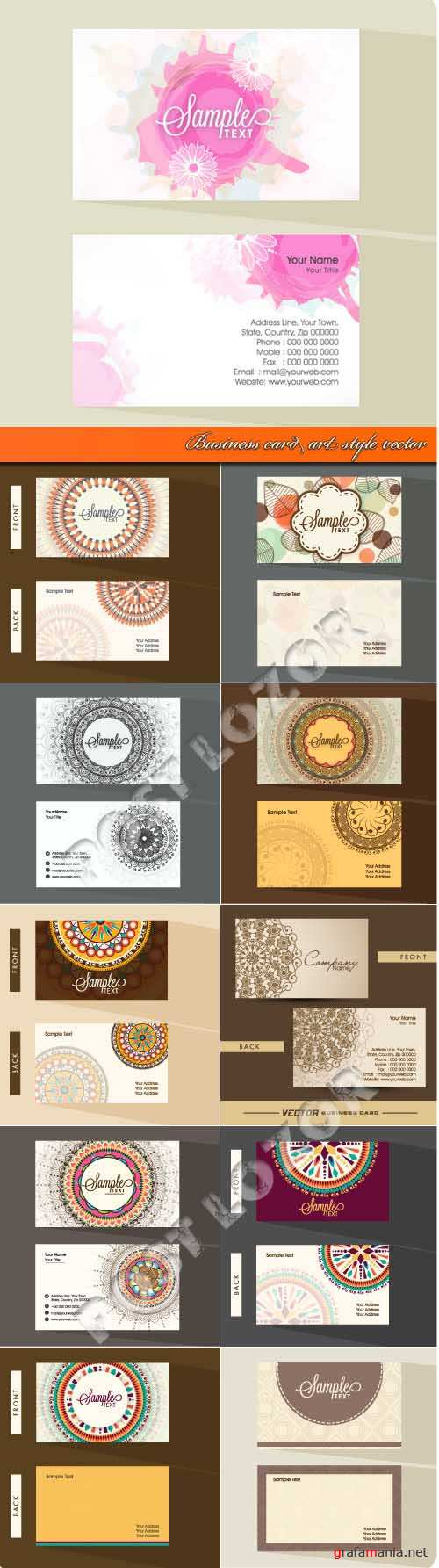Business card art style vector