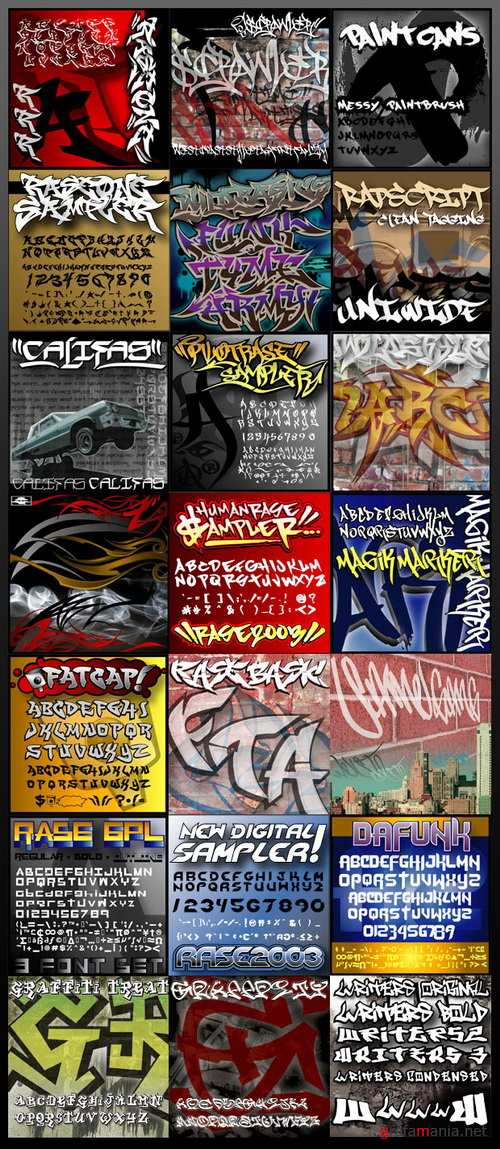 InkyDeals - 55 Graffiti Style Fonts, 125 Stock Images & Cool Bonus