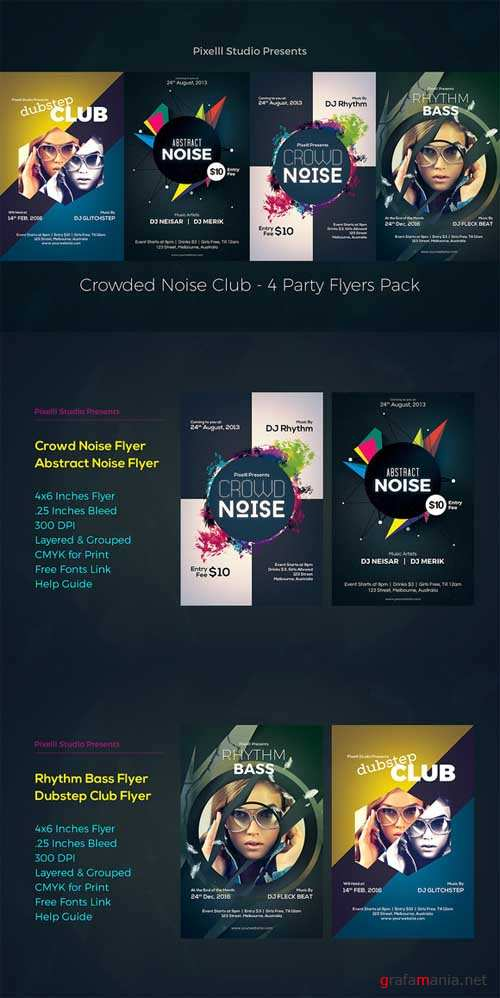 Crowded Noise Club - 4 Flyers - 564290