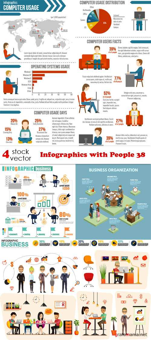 Vectors - Infographics with People 38