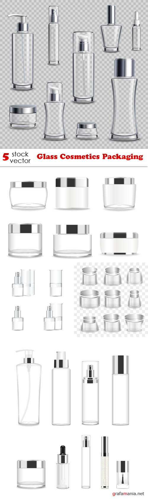 Vectors - Glass Cosmetics Packaging