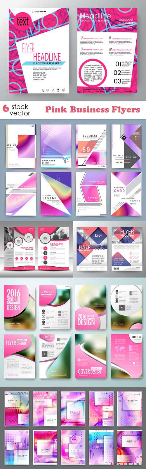 Vectors - Pink Business Flyers